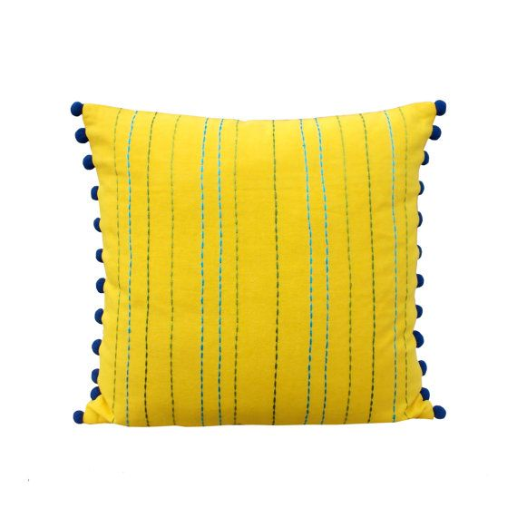 Yellow throw pillow cover cotton pillow cover house wares rice