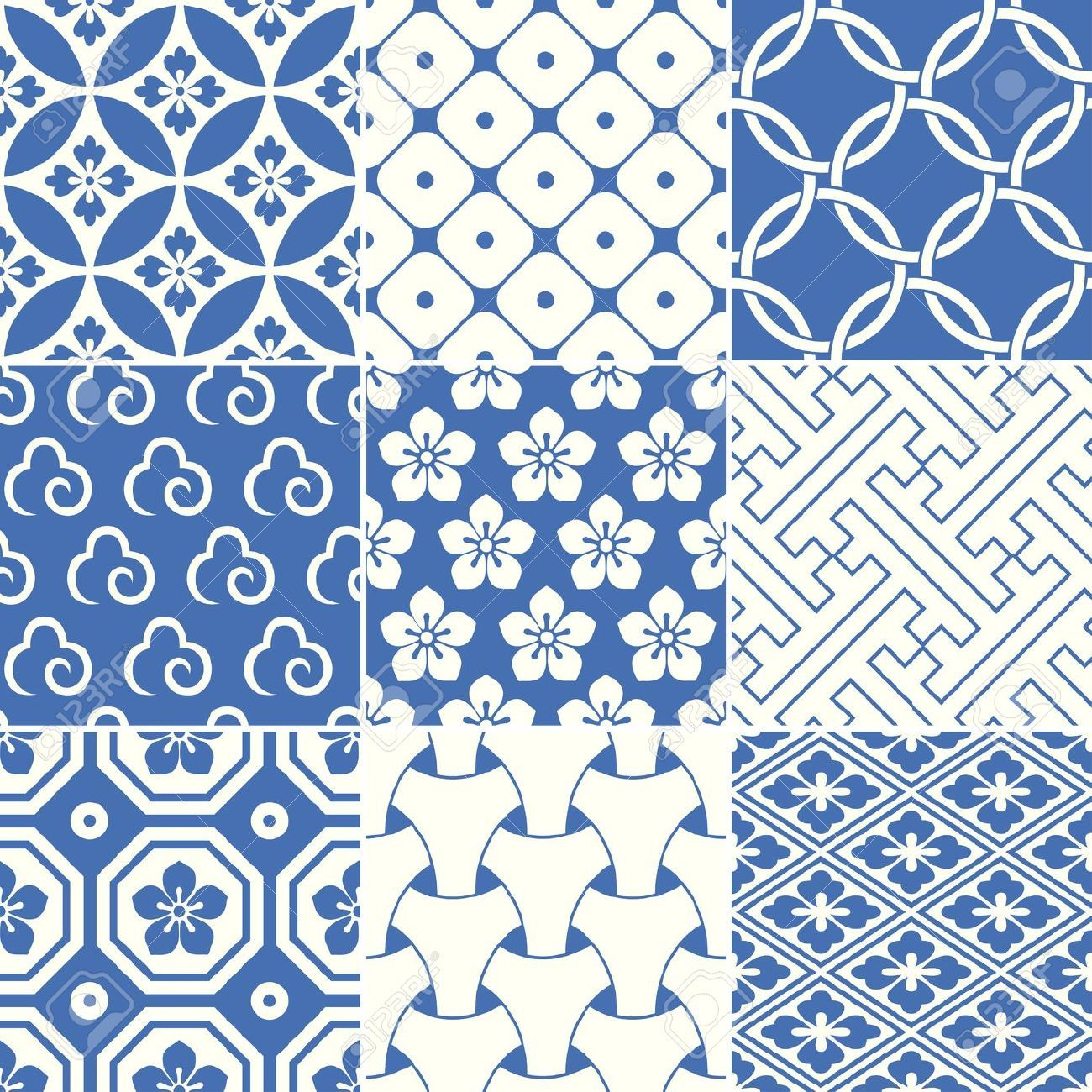 Vintage Japanese Traditional Pattern Royalty Free Cliparts ...