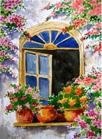 Pinturas De Paisajes Con Flores Buscar Con Google Paisajes Acuarela Pintura Al Oleo Paisajes Paisajes Para Pintar Faciles