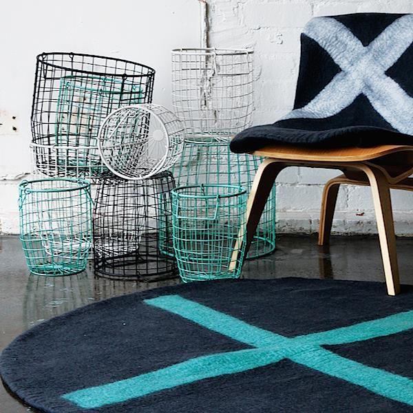 Tea Pea - Down to the Woods Wire Baskets - Medium | TEXTILES TRENDS ...