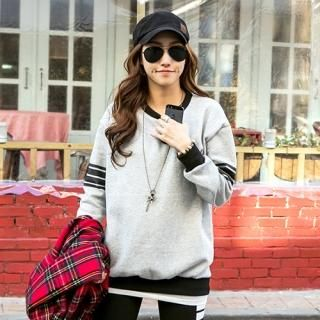 Contrast-Trim+Brushed-Fleece+Pullover+from+#YesStyle+<3+PIPPIN+YesStyle.com