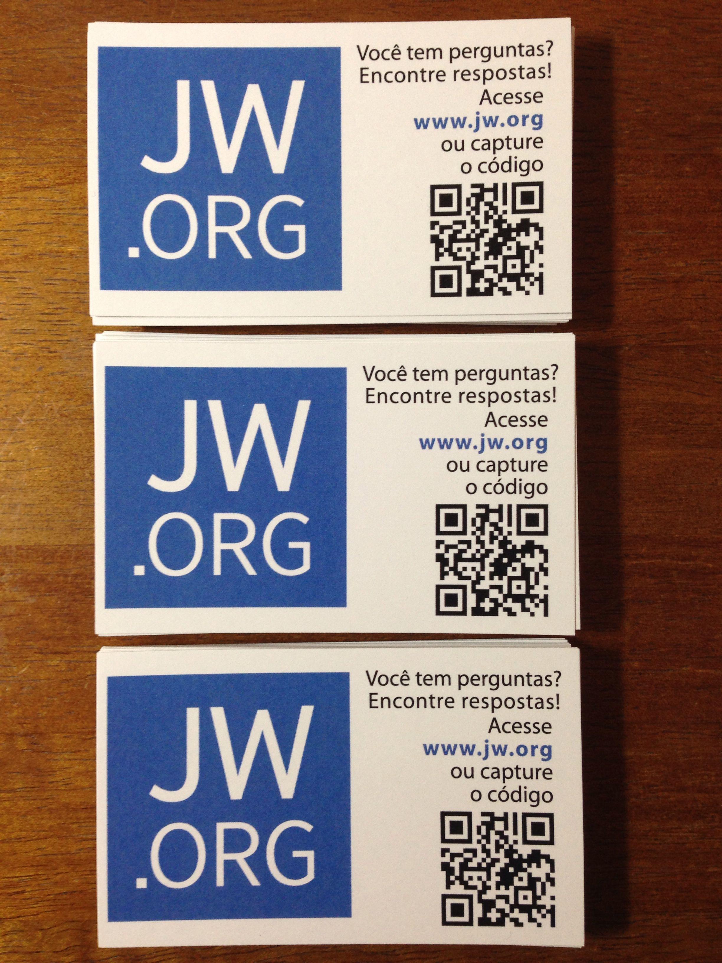 JW.ORG  Bbusiness card  Cartão de visita