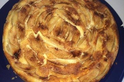 Apfel Quark Kuchen Mit Zucker Und Zimt Backen