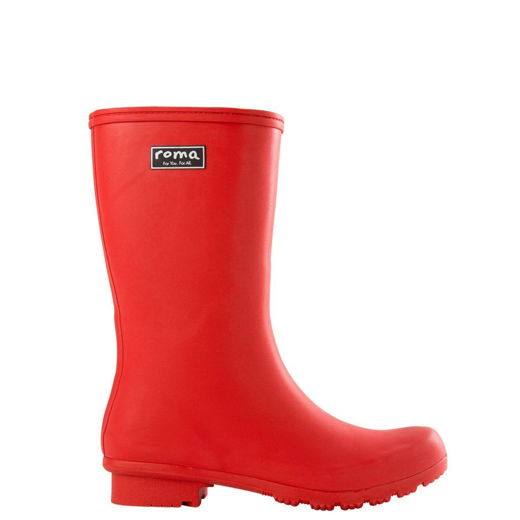 Roma Short Matte Red Womens Rain Boots Boots Rain Boots