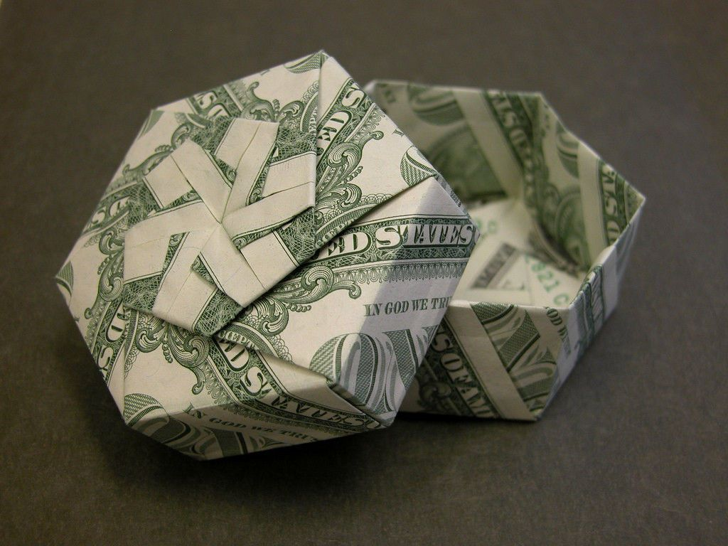 Gift box money folding pinterest origami box and gift gift box dollar oragamidollar bill origamimoney jeuxipadfo Image collections