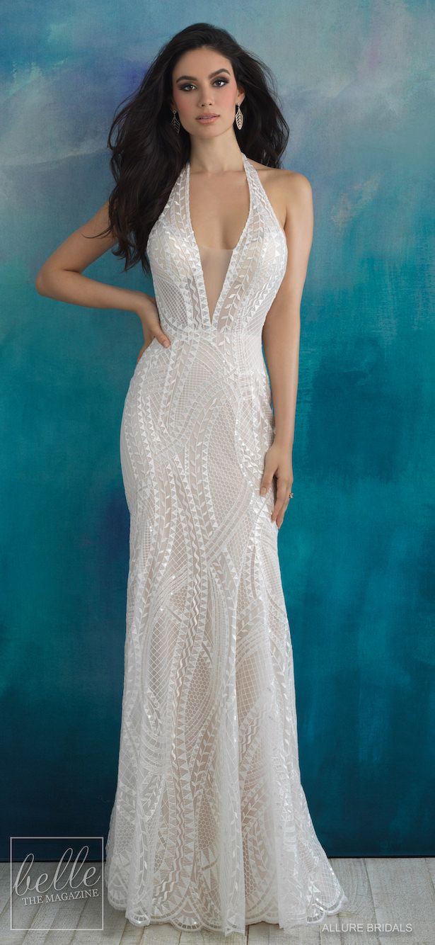 Allure wedding dress  Bridal Trends Halter Wedding Dress  Allure Bridals Spring