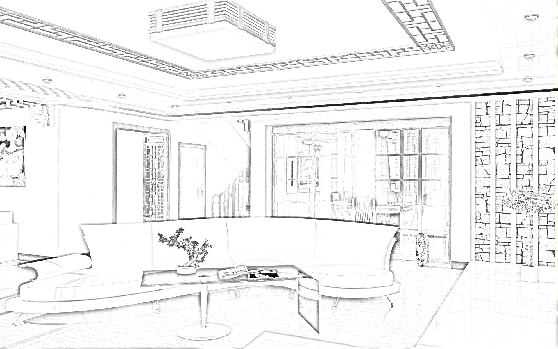 Interior design sketches google search interior design for Drawing hall interior decoration