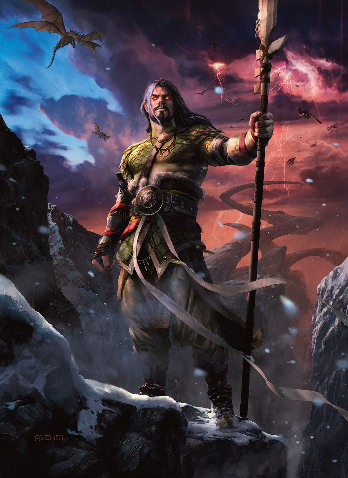 Wizardsmagic Sarkhan At Last Is Whole Now He Seeks Ugin In Search Of Both Answers And Narset Read Unbroken And Unbowed Now On D Mtg Art Magic Art Fantasy