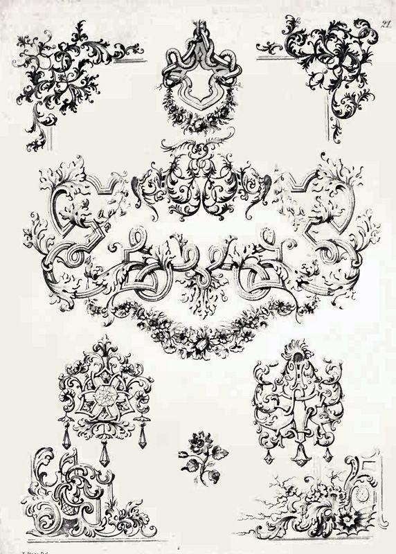 rococo barock ornament tattoo ideas pinterest barock. Black Bedroom Furniture Sets. Home Design Ideas