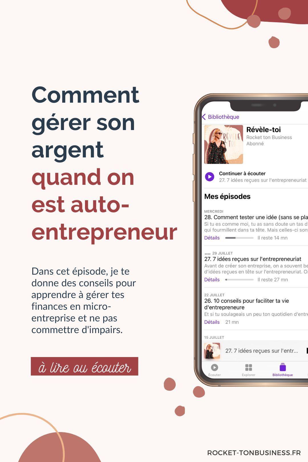 Comment Gerer Ses Revenus D Auto Entrepreneur Rocket Ton Business Entrepreneuriat Entrepreneur Micro Entreprise