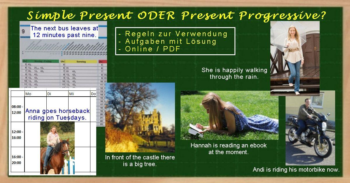 Simple Present oder Present Progressive? - Übungen | Nachhilfe ...