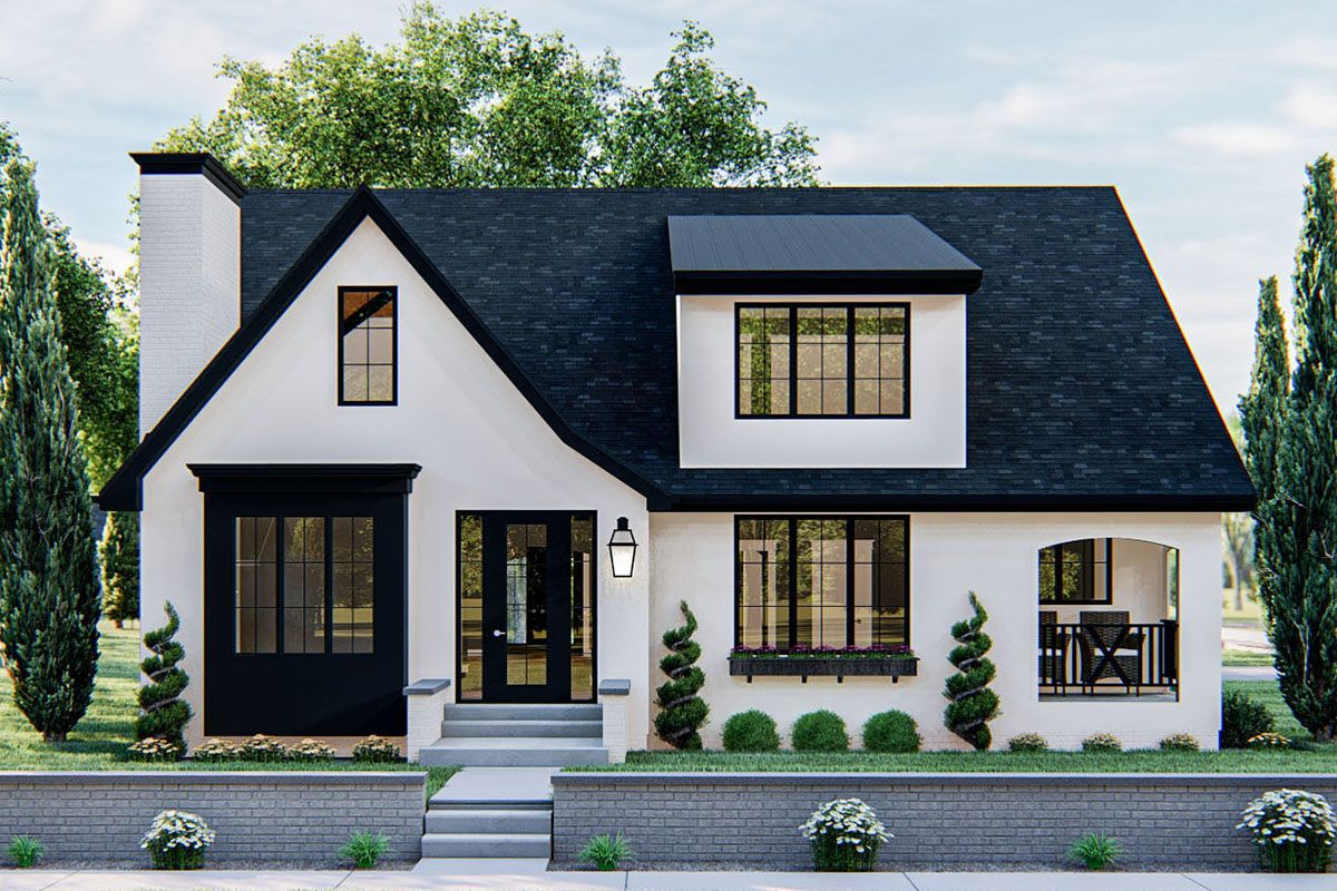 Plan 62870dj Modern Cottage House Plan With Cathedral Ceiling In