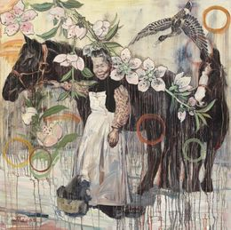 Hung Liu, 'With Nellie and Julie,' 2005, Rena Bransten Gallery