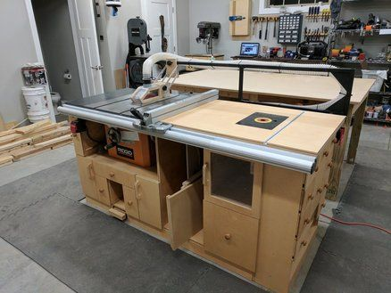 Table Saw Router Station Finally Done Table Saw Workbench