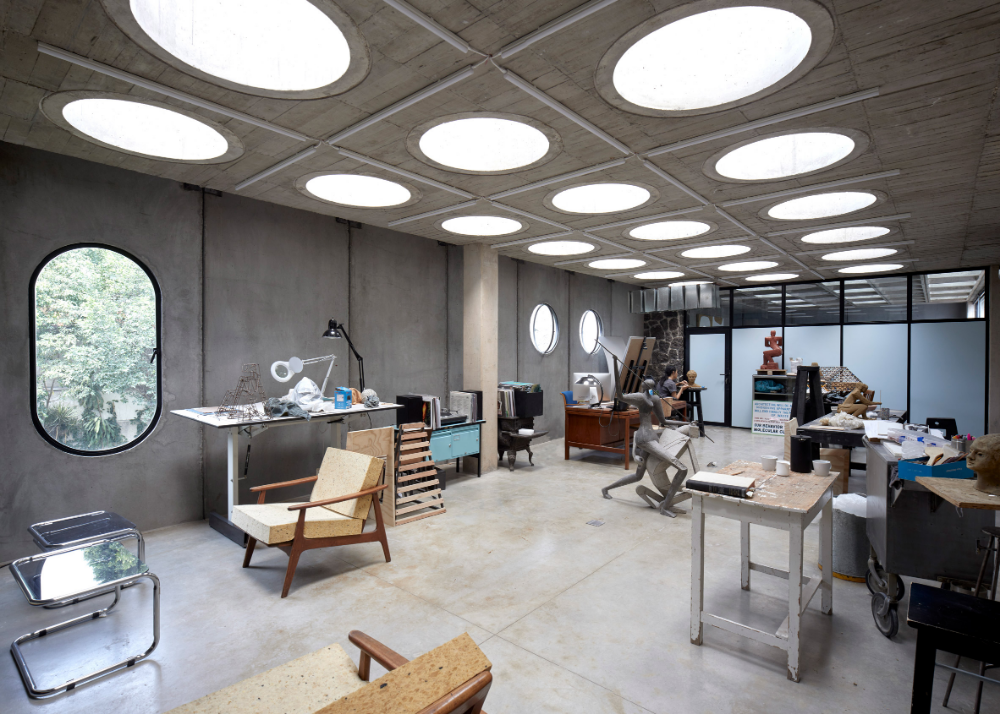 Pedro Reyes Designs His Own Brutalist Studio In Mexico City I 2020