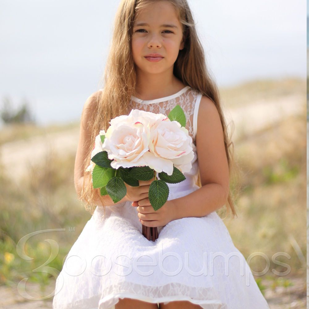 Details about new flower girl dress princess special occasion party