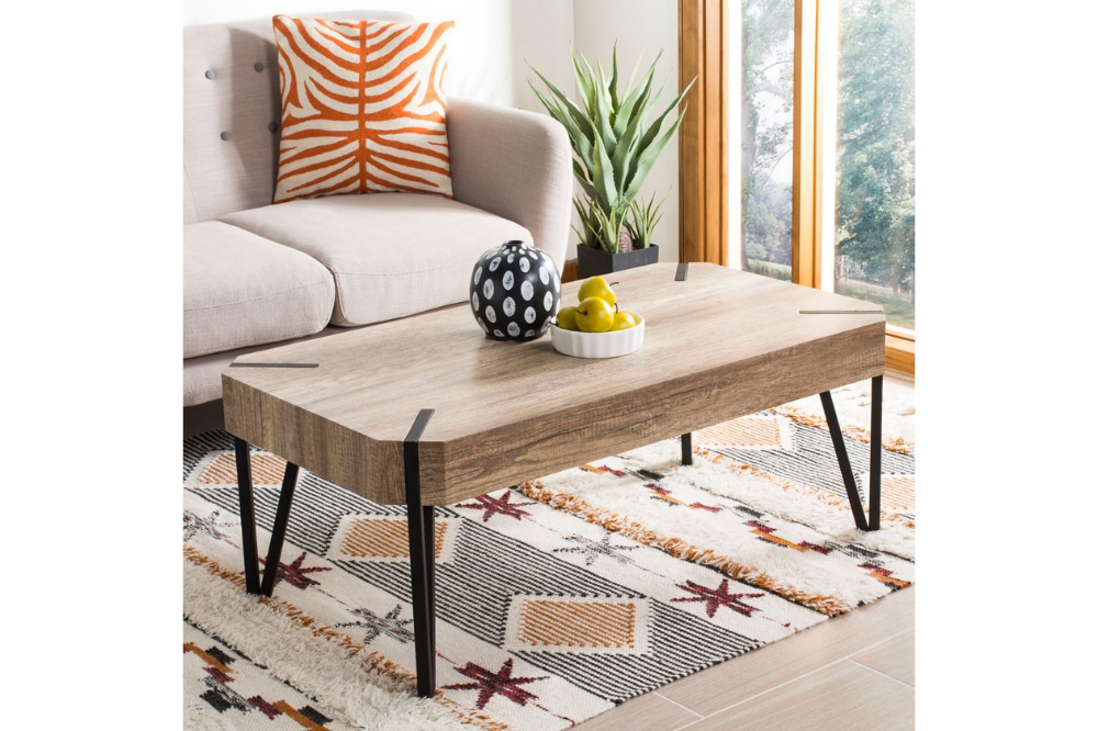Conor Midcentury Wood Top Coffee Table In 2020 Coffee Table