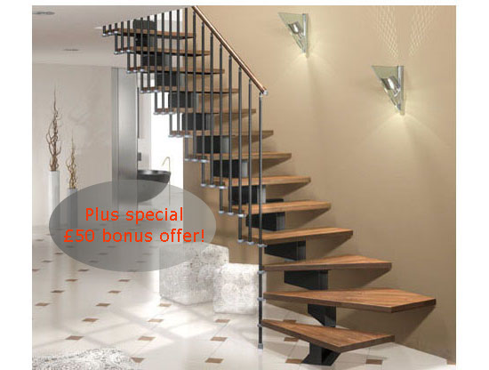 Captivating Stilo Modular Staircase Kit In Two Widths 70cm And 83cm