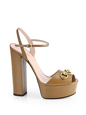 ad56b30ddf8 Gucci Claudie Leather Platform Sandals.yes.please.