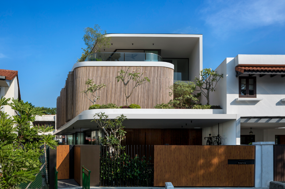 Gallery Of Bamboo Veil House Wallflower Architecture Design 6 Architecture Design House Architecture Design Bamboo House Design