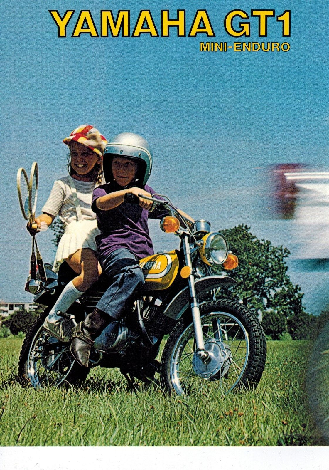 details about 1973 yamaha gt1 80 mini enduro 4 pages. Black Bedroom Furniture Sets. Home Design Ideas