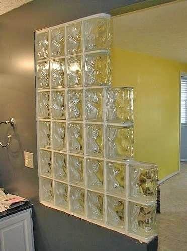 Ba os decorados con ladrillos de vidrio buscar con - Ladrillo de cristal ...