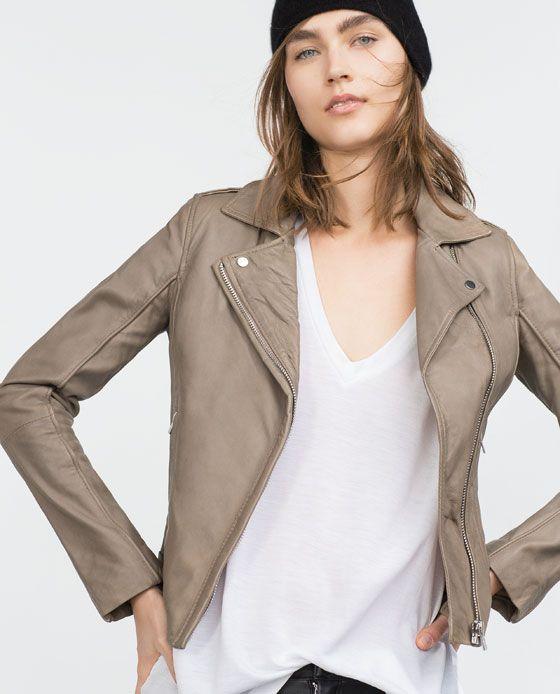 1a37a2c52981e LEATHER JACKET   Clothes   Pinterest   Blouson cuir, Cuir et Blouson