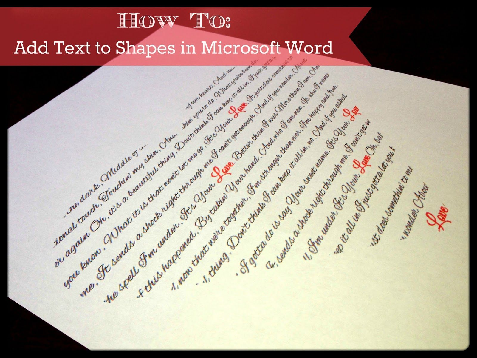 Add Text To Shapes In Microsoft Word Tutorial Click