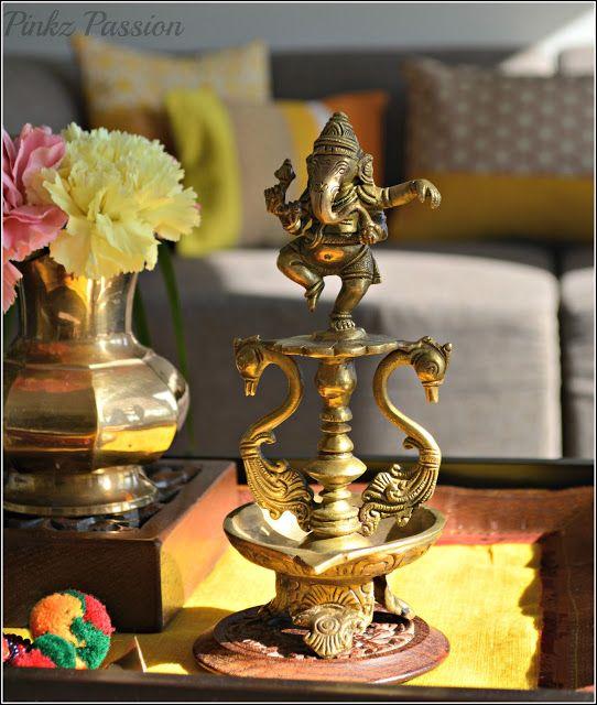 Brass Home Decor: Brass Collectibles, Antique Ganesha, Indian Décor