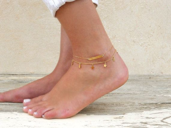 il real solid dainty listing name gold zoom anklet personalized custom fullxfull