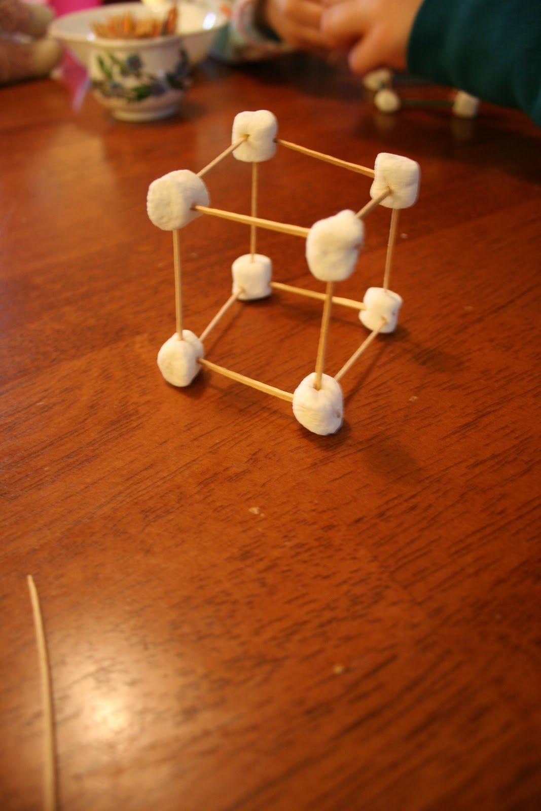 3 D Geometry Vertices Marshmallows Edges Toothpicks