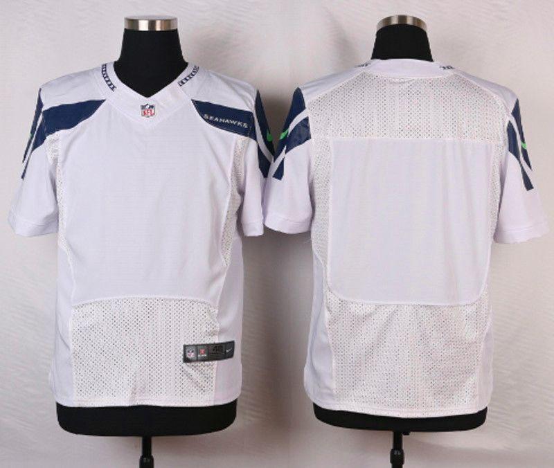 NFL Customize Seattle Seahawks Blank White Men Nike Elite Jerseys ... a4abee132