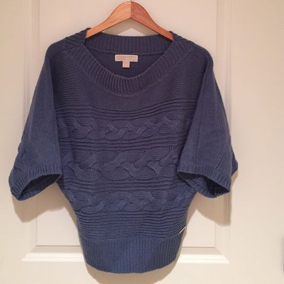"""Michael Kors Blue Sweater Michael Kors blue sweater with dolman 3/4 sleeves. A small silver """"Michael Kors"""" label on the front bottom side. MICHAEL Michael Kors Sweaters Crew & Scoop Necks"""
