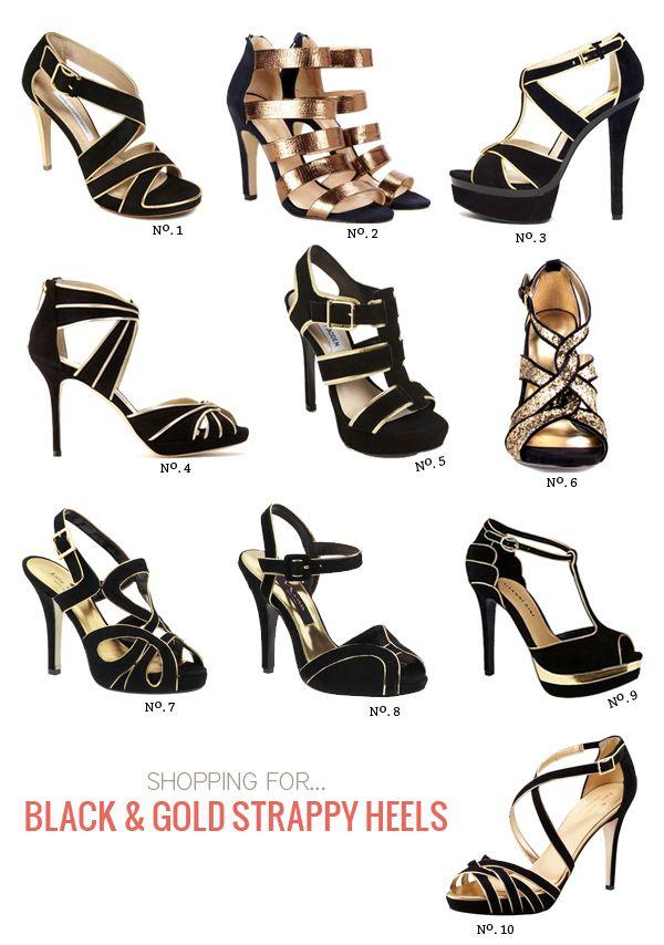ec498975b8d Best of: Black & Gold Strappy Heels   Modern Eve   Beauty   Gold ...