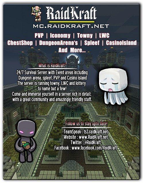 Raidkraft Survival Server Minecraft Server