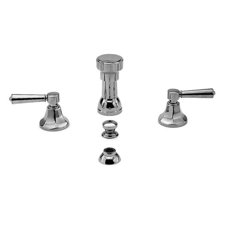 Newport Brass 1209 Metropole Double Handle Widespread Bidet Faucet with Vacuum B Polished Chrome Faucet Bidet Vertical Spray