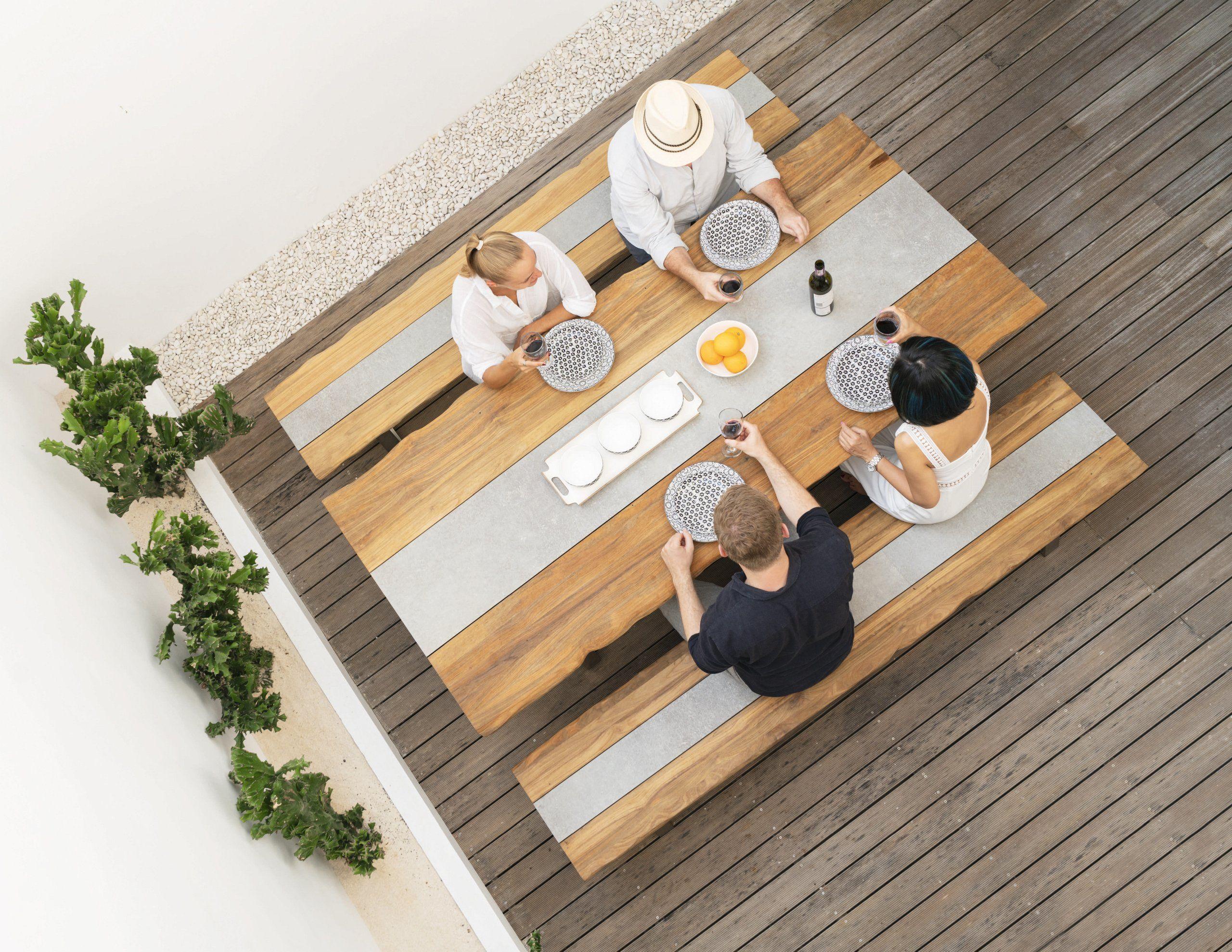 Zebra Tisch Unyx Tisch Teak Nachhaltiges Design