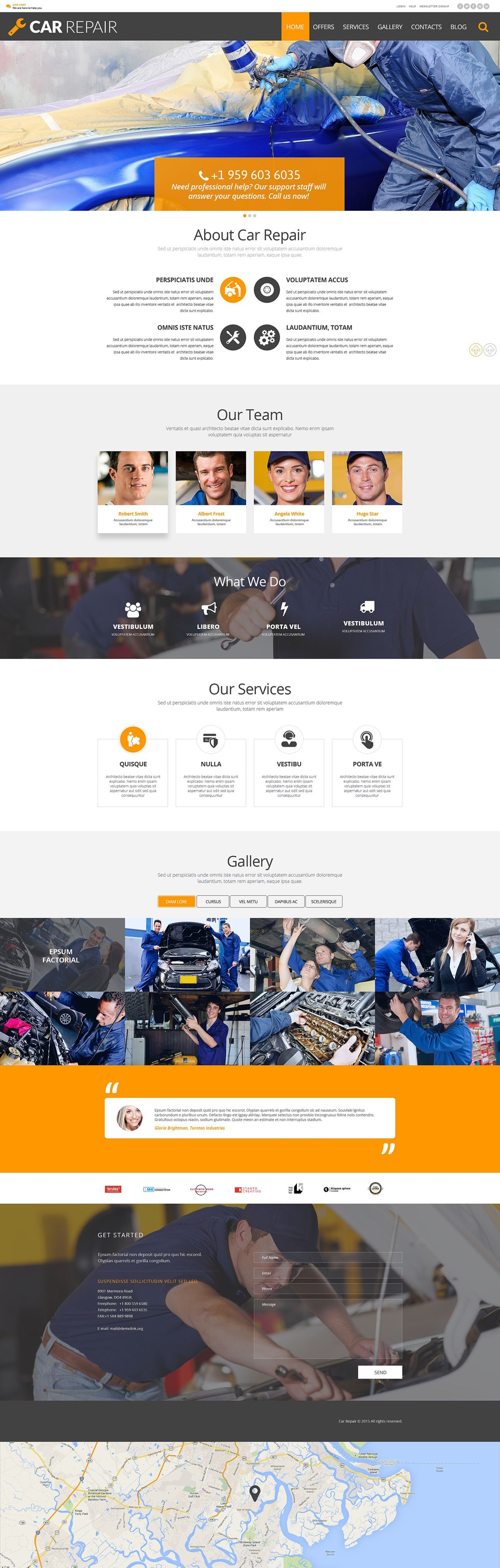 Car Mechanic And Auto Body WordPress Themes Repair Theme For Your Site Item Picture