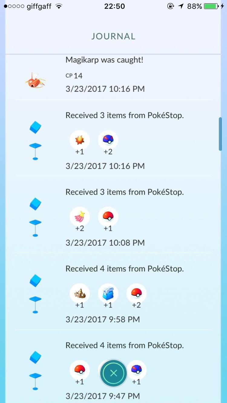evolution items in minutes encountering a shiny what is going