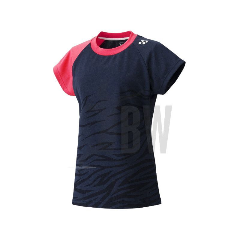 Yonex Badminton Ladies T Shirt Navy Blue Pink Badminton T Shirts Badminton Badminton Shoes
