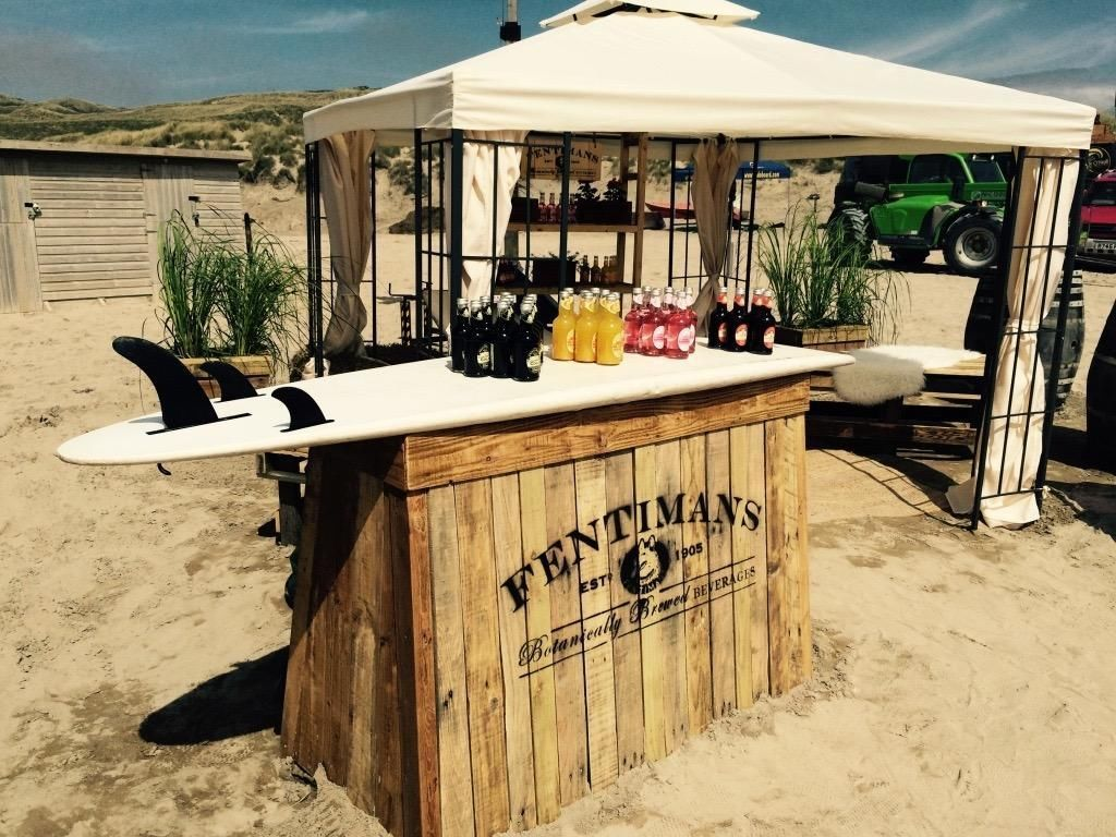 Quirky Pop Up Mobile Bar Hire Surfboard Bicycle Festival Weddings Parties Events
