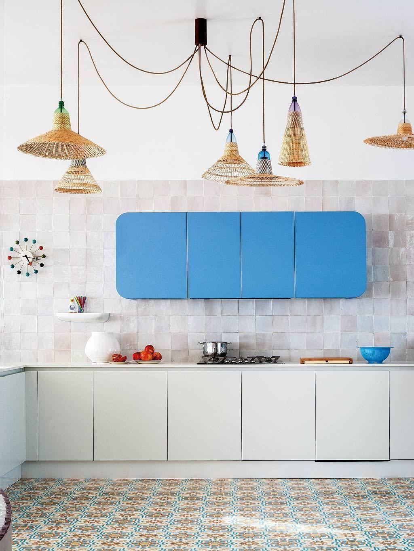 Déco cuisine blanche et bleue - Blog Déco  Funky home decor