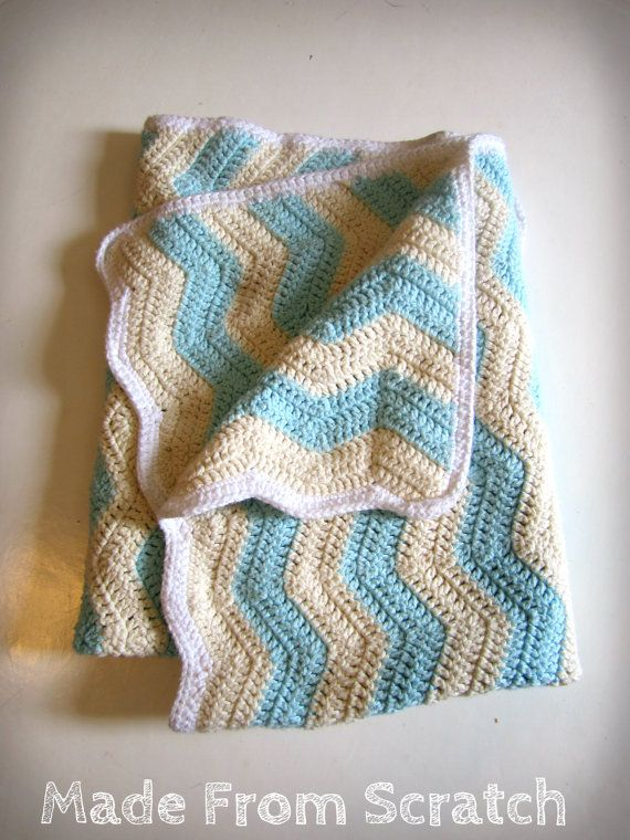Crochet Chevron Baby Blanket by Madethisfromscratch on Etsy, $70.00 ...