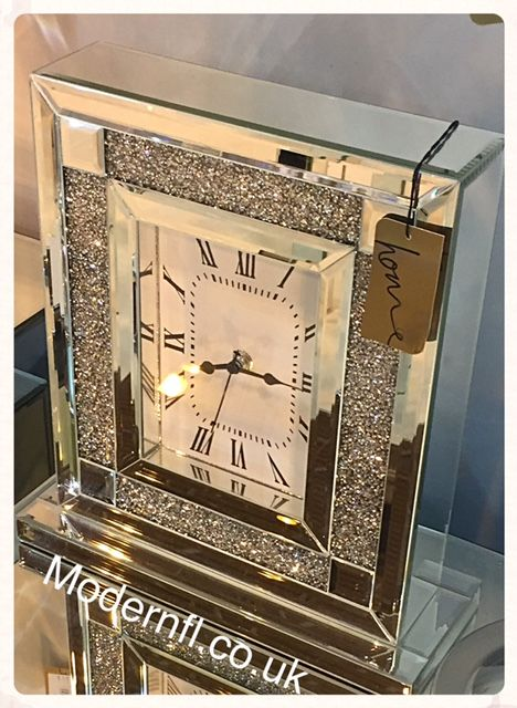 Beautiful Mantle Crushed Diamond Wall Clock Now In Stock A