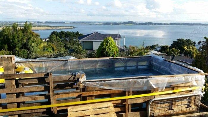 pool selber bauen paletten-diy Möbel aus Paletten Pinterest - schwimmbad selber bauen