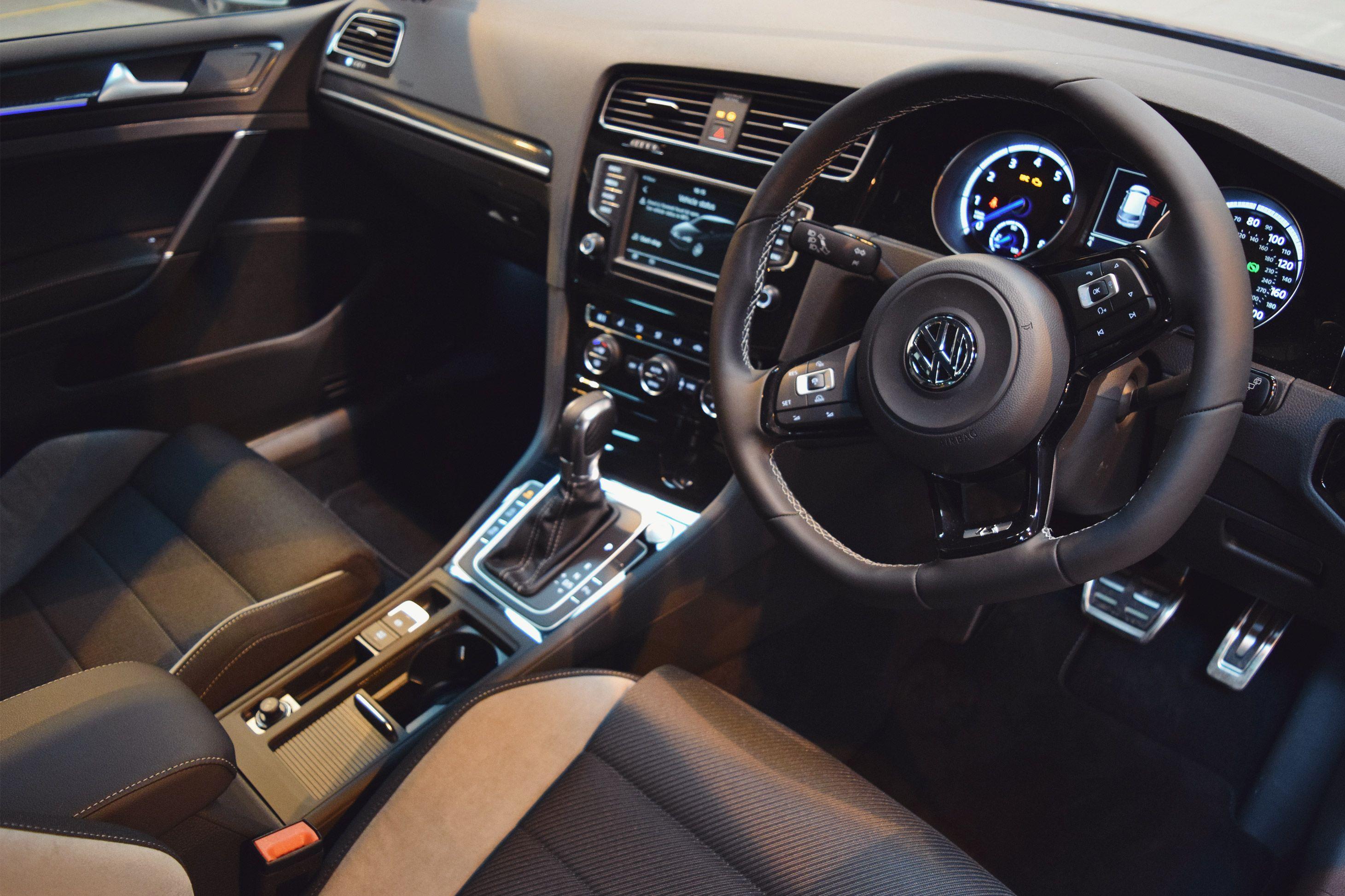 2016 Volkswagen Golf R In Lapiz Blue Interior Volkswagen