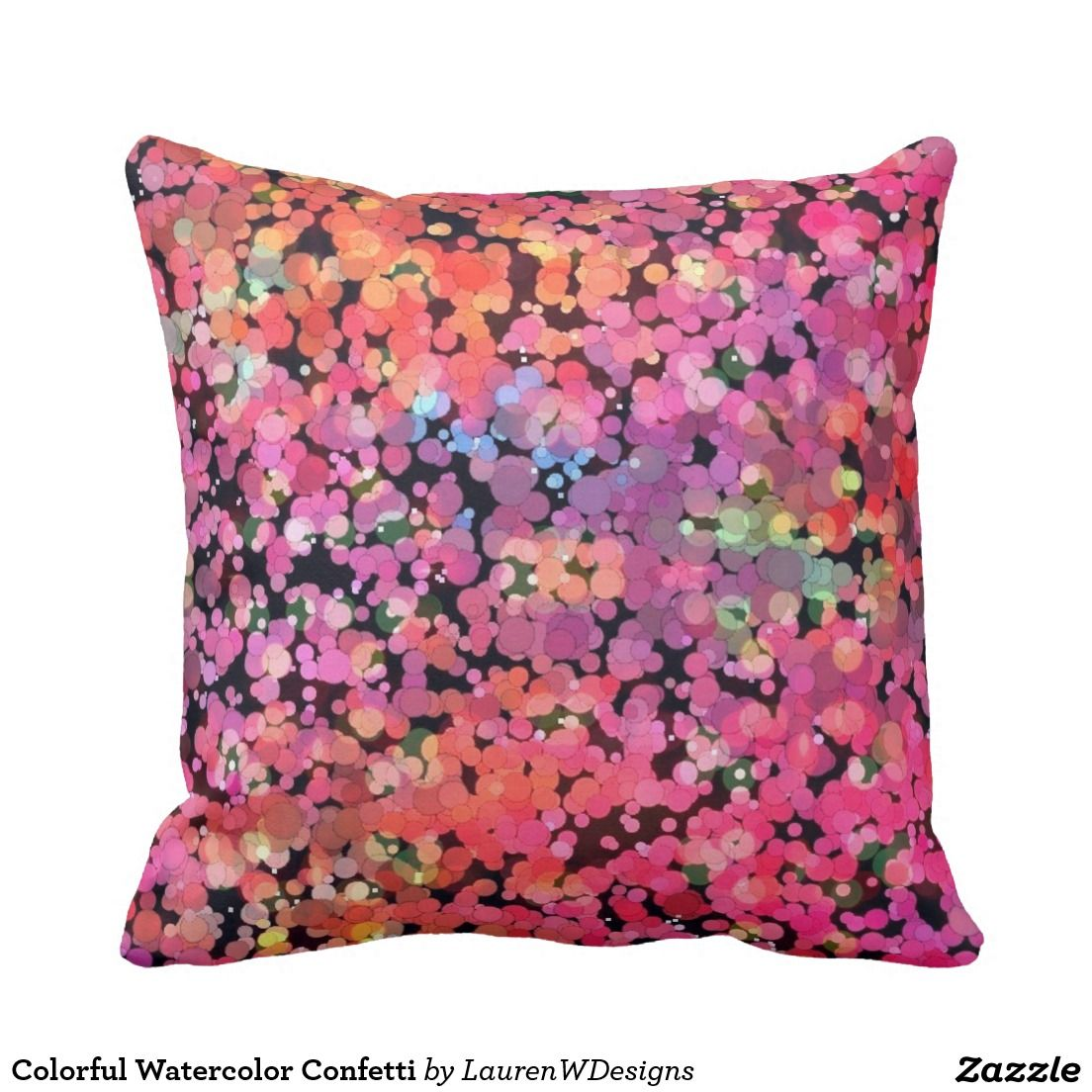 Pink Outdoor Pillow Pink and Black