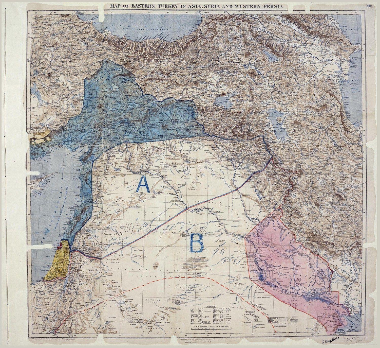 764 100 Ans Des Accords Sykes Picot Ils Ont Invente Une Paix Qui Ressemble A La Guerre Moyen Orient Orient Guerre