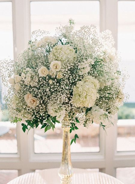 Beautiful Baby S Breath Centerpieces Are Great Value For Money And Looks Pretty Mix Your Baby Wedding Centerpieces Rose Centerpieces Spray Roses Centerpiece