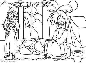 Woman At The Well Coloring Page Bible Coloring Pages Coloring